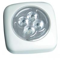 Pushlight con 4 LEDs luce bianca, ideale per stanze, garage, scale, Caravan, campeggio, ecc 3 x R03 AAA