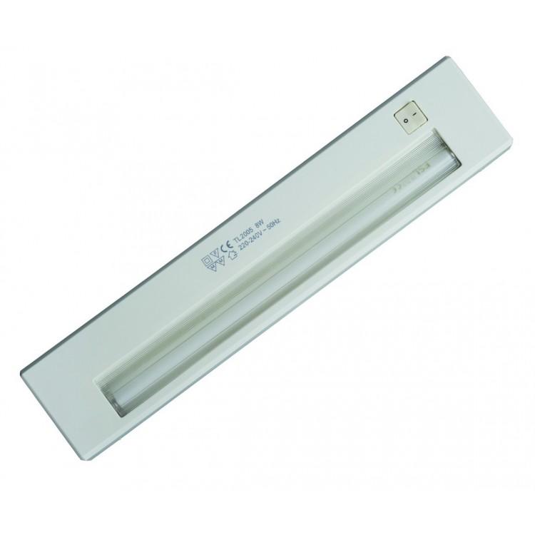 Lampada sottopensile con 1 tubo fluorescente T5 8W 342mm 6400K