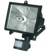 Faro alogeno orientabile con sensor di movimento. 500W 230V-IP44, color bianco