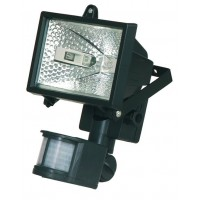 Faro alogeno orientabile con sensor di movimento. 150W 230V-IP44, color bianco