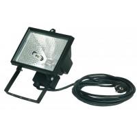 Lampada alogena con variabile rotante fissaggio con cavo 3 x 1, 0mm. 500W 230V-IP55, nero.