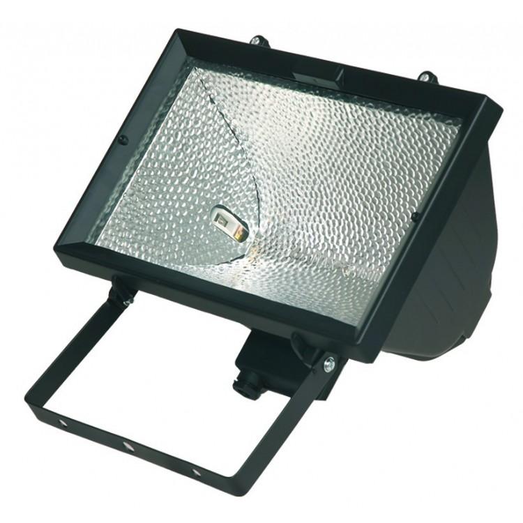 Faro alogeno orientabile 1500W 230V-IP44 uso esterno, color nero