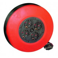 Prolunga avvolgibile con 4 prese 2P + schuko 5 metri (3 x 1,0mm)
