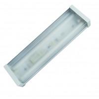 Lampada sottopensile con 2 tubi fluorescenti T8, 2x18W - 1240x160x65mm