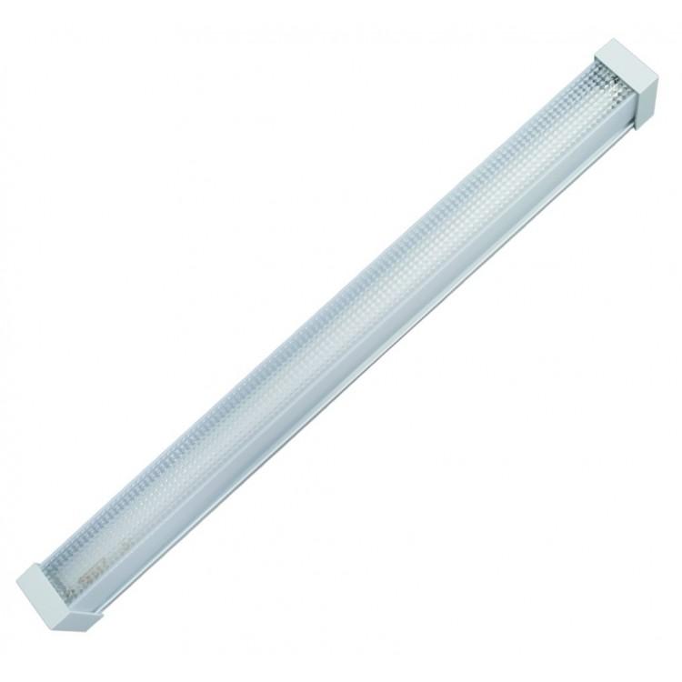 Lampada sottopensile con 1 tubo fluorescente T8 18W 1260x100x90mm