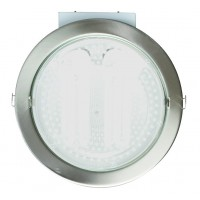 Downlight tondo da incasso 2 E27 x 25W - nichel satinato