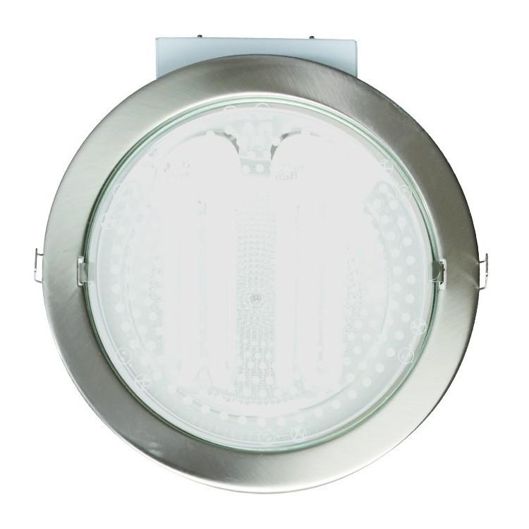 Downlight tondo da incasso 2 E27 x 25W - nichel satinato